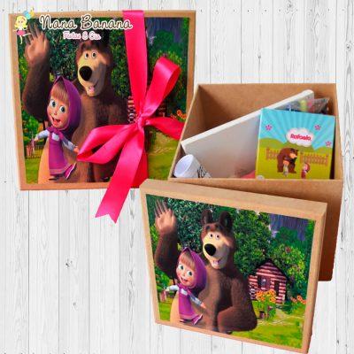 Caixa de MDF com Kit Pintura e Colorir